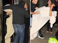 Justin Bieber trùm kín chăn rời khỏi nhà thổ ở Brazil