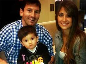 Messi tổ chức sinh nhật giản dị cho con trai