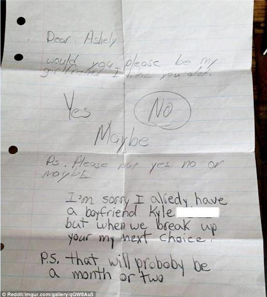 Bức thư tình vui nhộn của trẻ tiểu học hút 1,25 triệu like