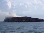 Tàu chở 700 container bốc cháy trên biển Vũng Tàu