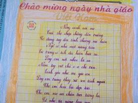 Cô bé lớp 3 viết chữ đẹp như in