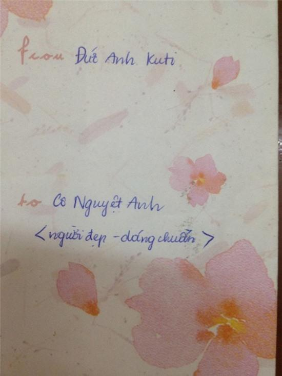 Bức thư 'cute' gửi cô giáo người chuẩn, dáng đẹp