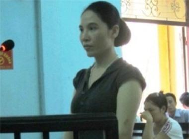 Bị cáo Phạm Thị Ngọc Lan tại phiên tòa sơ thẩm ngày 26/9/2012