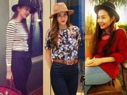 Học lỏm cách mix đồ xuống phố ngày giao mùa đẹp như Sao Việt