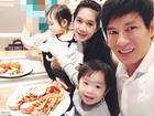 Sinh con hơn một tuần vợ Lý Hải tung tăng đi ăn cùng chồng