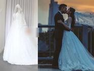 Tiết lộ những hình ảnh đầu tiên về chiếc váy cưới kiêu sa của Tâm Tít