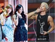Mặc scandal, Taeyang tươi cười nhận cúp Golden Disk Awards