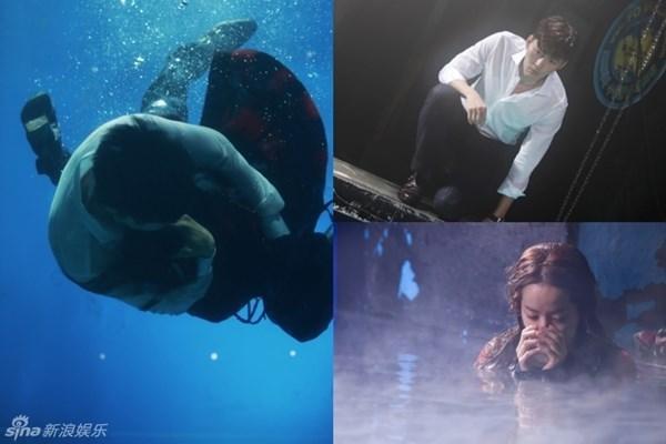 Lạnh thấu xương, Hyun Bin và Han Ji Min vẫn ôm nhau dưới nước
