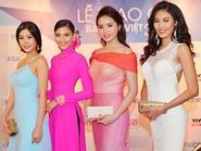 Trương Thị May diện áo dài  đọ dáng cùng dàn mỹ nhân Việt
