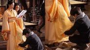 Tôn Lệ bị chỉ trích vì ép nhân viên quỳ xuống bóp chân