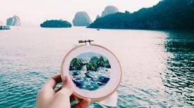Việt Nam lên tranh thêu của cô gái mê xê dịch