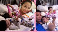 Facebook 24h: Ốc Thanh Vân cổ vũ chồng con khi nằm viện