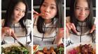 Thu Minh nhí nhảnh xì tin đi ăn cho