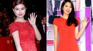 Top sao nữ Hàn Quốc lộng lẫy trong màu váy đỏ