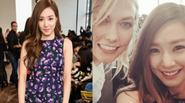 Tiffany (SNSD) khoe ảnh đọ sắc với thiên thần Victoria's Secret ở Mỹ