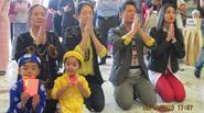 Bằng Kiều, Dương Mỹ Linh cùng nhau đi lễ chùa ở Mỹ