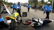 Tai nạn kinh hoàng khiến 1 người điều khiển mô tô tử vong ở giải đua xe đạp