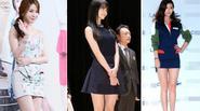 """Váy ngắn - """"độc chiêu"""" khoe chân thon nuột nà của sao Hàn"""