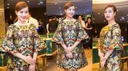 Hoàng Thùy Linh sang trọng cổ điển với đầm gấm