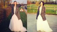 'Gặp' Á hậu Huyền My mặc váy cưới tại Anh