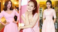 Đẹp hút ánh nhìn như kiều nữ Việt diện gam hồng phớt