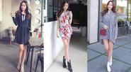 Ngọt ngào ngày nắng với trang phục họa tiết