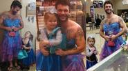 Anh chàng xăm trổ mặc váy Lọ Lem đi xem phim cùng cháu gái