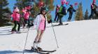 Thảo Trang khoe tài lẻ trượt tuyết điêu luyện