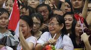 Những hình ảnh xúc động trong ngày tiễn đưa ông Lý Quang Diệu
