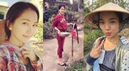 Ngỡ ngàng vẻ chân chất của kiều nữ Việt khi làm gái quê