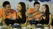 Hương Giang Idol cười tít mắt vì được bạn trai chăm sóc