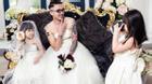 Hài hước và xúc động bộ ảnh bố đơn thân xăm trổ mặc váy cưới