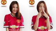 """Người đẹp Diễm My 9x """"hôn gió"""" cổ vũ Man United trước đại chiến"""