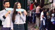Sinh viên leo cây, trèo nóc nhà ngắm Huỳnh Hiểu Minh - Angela Baby
