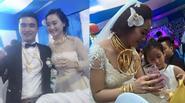 """Đám cưới gây choáng với dàn môtô """"khủng"""", cô dâu chú rể đeo vàng đầy người"""