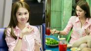 """Ngọc Trinh ăn vội trước khi sang Hàn Quốc nhận giải """"Nữ hoàng Bikini Châu Á"""""""
