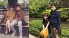 Vợ chồng Trà My quấn quýt không rời ở Nhật