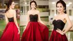 Mai Phương Thúy khoe vai trần gợi cảm với váy trễ nải