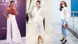 Sao Việt mặc đẹp cùng gam trắng thanh nhã