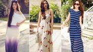 Diện váy maxi vui chơi ngày nắng hè