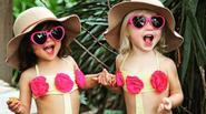 """Đôi bạn 2 tuổi siêu dễ thương chuyên """"xúng xính"""" đồ giống nhau"""