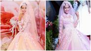 Mâu Thanh Thuỷ 'xinh như hoa' khi mặc váy cô dâu