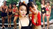 Facebook24h: Hồng Nhung thoải mái khoe dáng với bikini ở tuổi 45