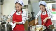 Thu Minh 'trốn' chồng con đi nấu ăn cho bệnh nhân nghèo