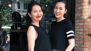 Kim Hiền  hội ngộ cùng Tăng Thanh Hà trước khi sang Mỹ sinh con