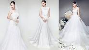 Kiều Oanh mặc váy cưới rạng rỡ xinh đẹp