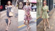 Xuống phố căng tràn sức sống với váy họa tiết xinh yêu