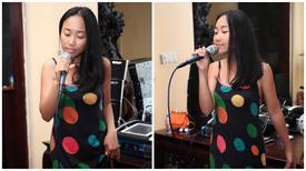 Đoan Trang diện váy hai dây quyến rũ đi tập nhạc