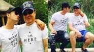 Huỳnh Hiểu Minh khoe ảnh hôn bố tình cảm
