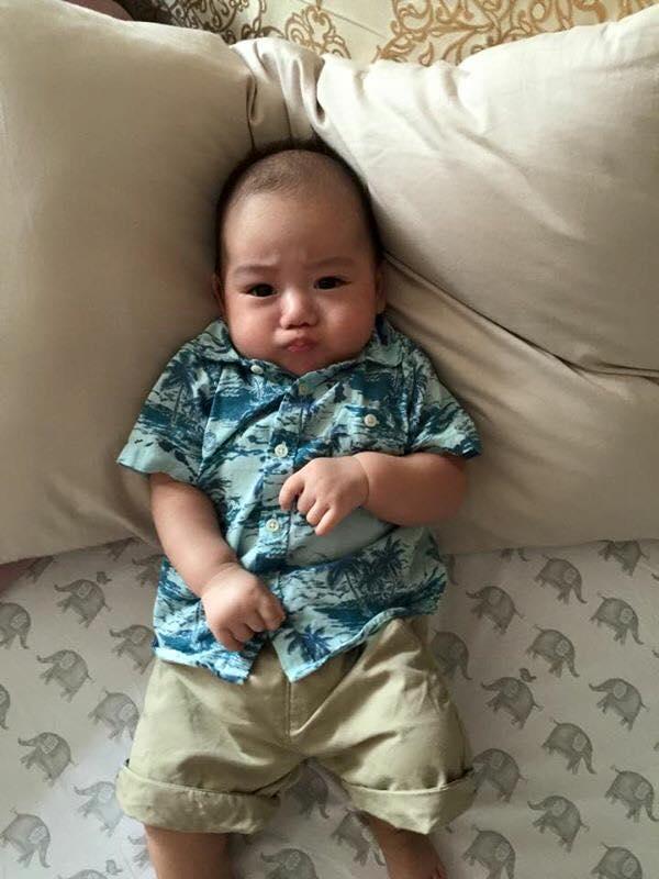 Những hoàng tử bé điển trai, đáng yêu của sao Việt  - Ảnh 3